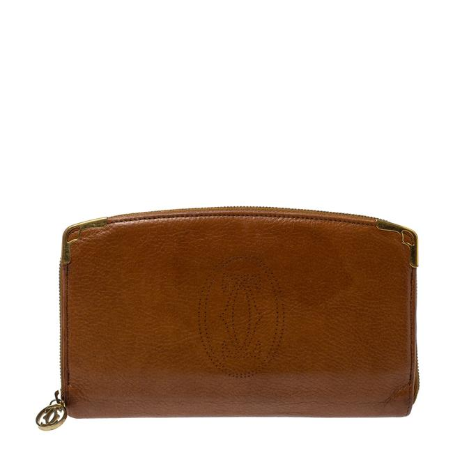 Item - Brown Leather Marcello Zip Around Wallet