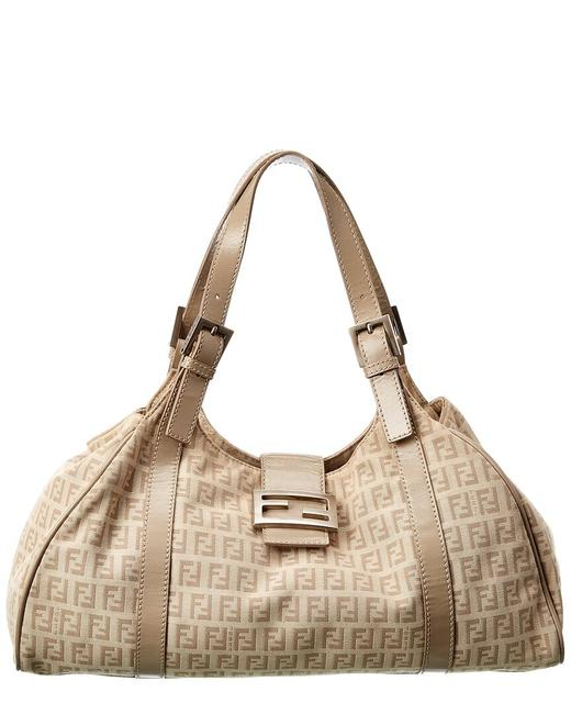 Item - Pre-owned Light Brown Canvas 1925063 Baguette