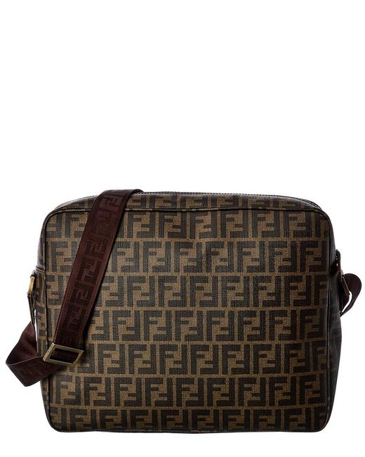 Item - Pre-owned Brown Zucca-print Canvas Large Qbb051cn05003 Messenger Bag