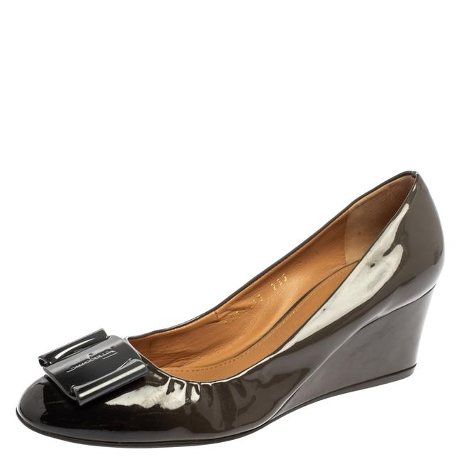 Item - Two Tone Patent Leather Wedge Size 38 Pumps