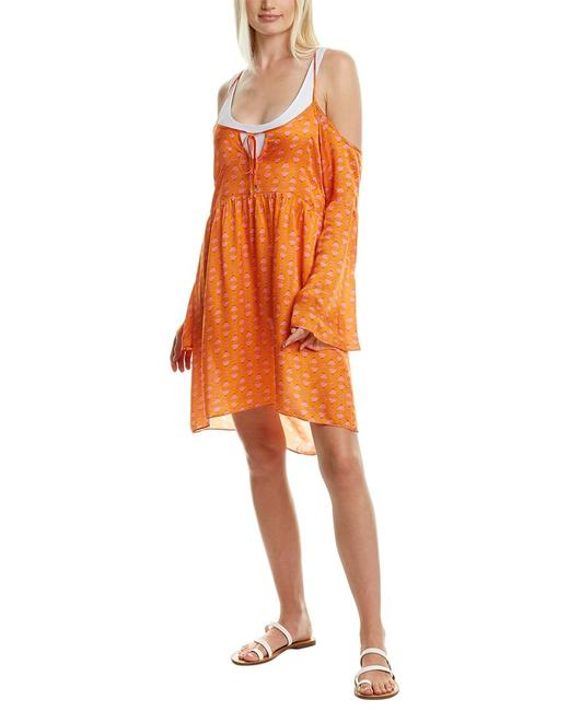 Item - Martini Silk-blend Mini Dress Vtct0132e08 Cover-up/Sarong