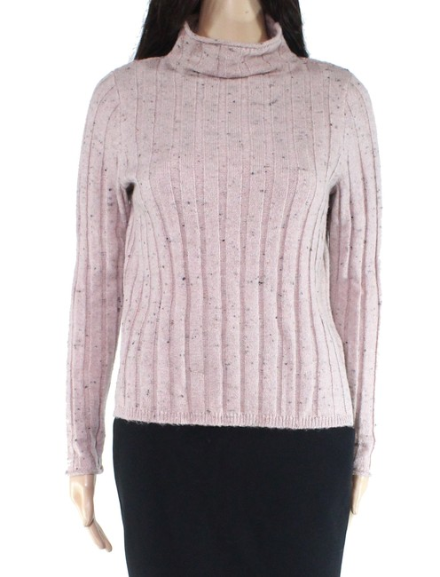 Item - Women's Pink Size Small S Turtleneck Mock Ribbed Sweater/Pullover