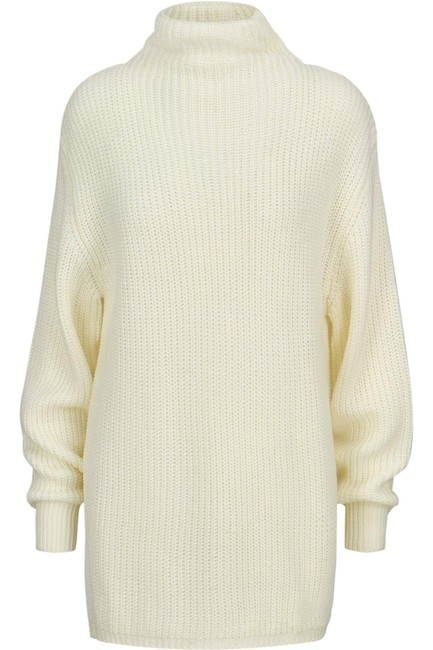 Item - Womens Sweater White Ivory Size Small S Mock Neck Cocktail Dress