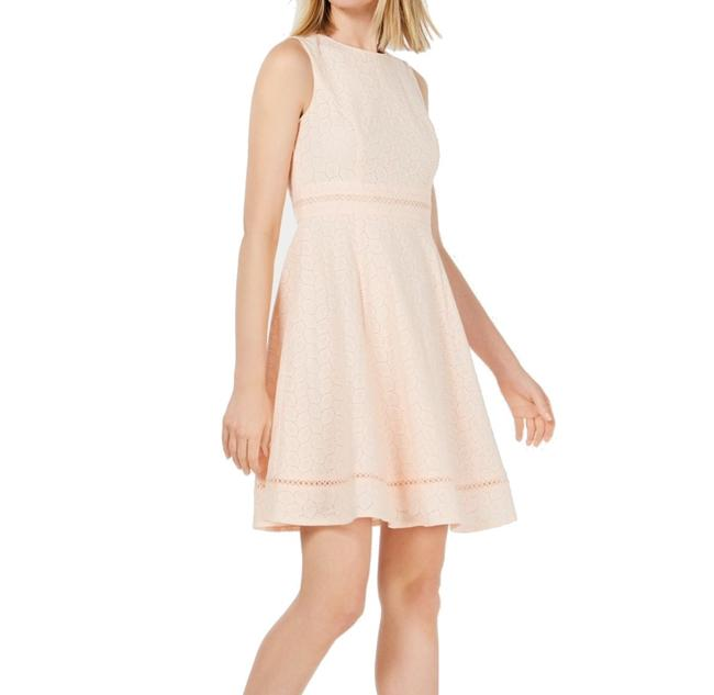 Item - Women's Light Pink Size 12p Petite A-line Eyelet Cocktail Dress