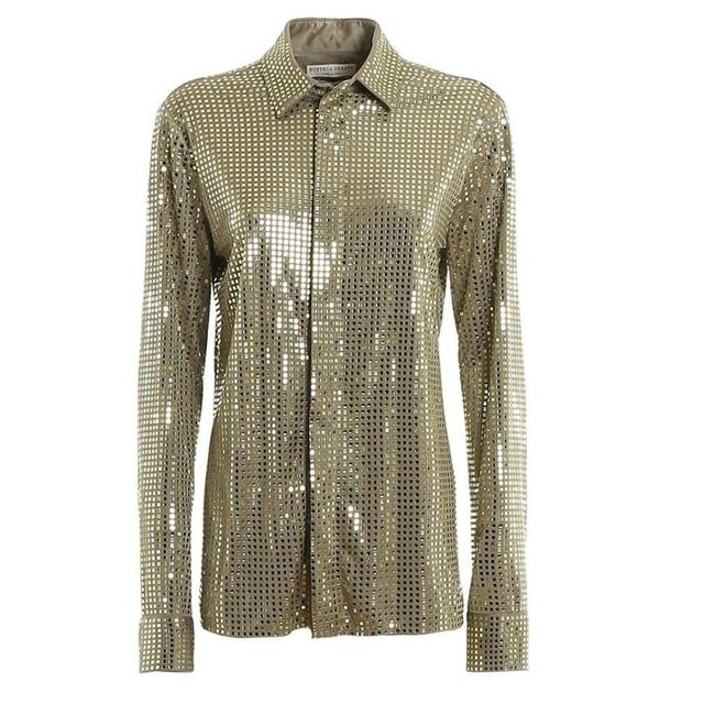 Item - Sequined Button Front It 42 Tee Shirt