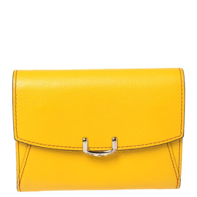 Item - Yellow Leather Small C De Compact Wallet