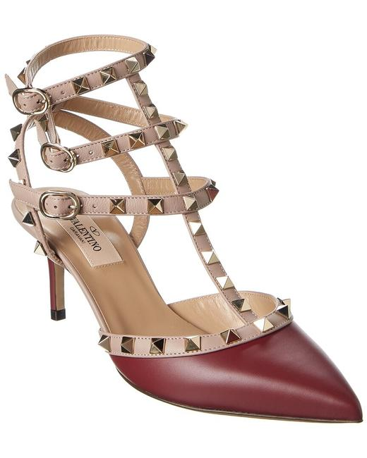Item - Rockstud Caged 65 Leather Ankle Strap Uw2s0375 Vod Fa5 Pumps
