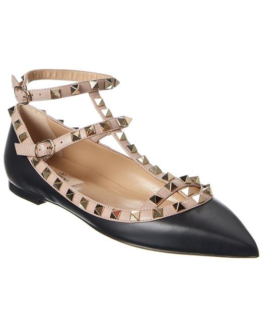 Item - Rockstud Caged Leather Ankle Strap Uw2s0376 Vod N91 Flats