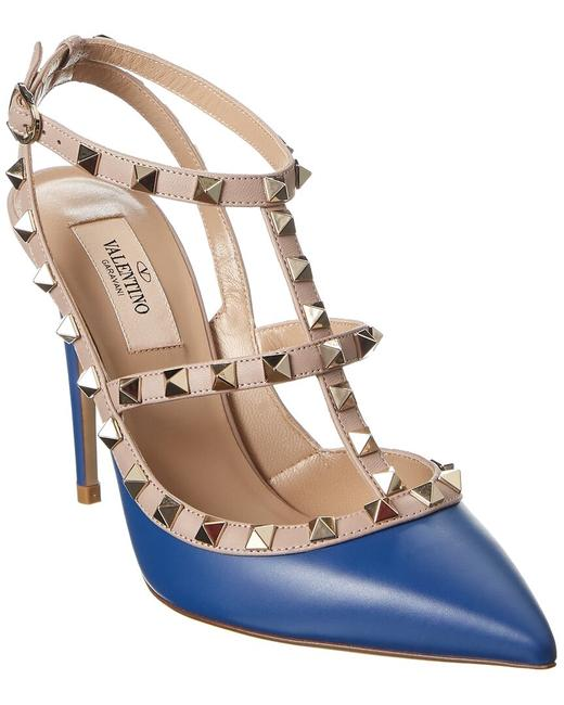 Valentino Rockstud Caged 100 Leather Ankle Strap Uw2s0393 Vod Fe6 Pumps Valentino Rockstud Caged 100 Leather Ankle Strap Uw2s0393 Vod Fe6 Pumps Image 1