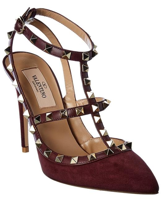 Item - Rockstud Caged 100 Leather & Suede Ankle Strap Uw0s0393 Wvw 57x Sandals