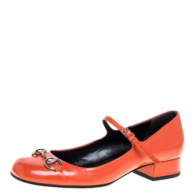 Item - Horsebit Orange Leather Mary Jane Square Size 36.5 Flats