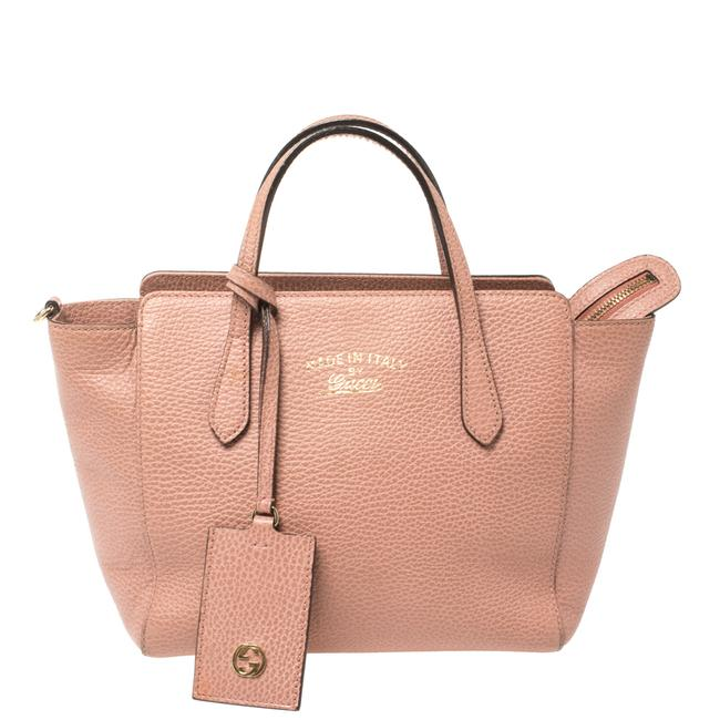 Item - Swing Pink Leather Mini Tote