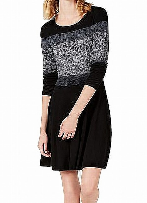 Item - Women's Sweater Black Size Small S Ribbed Knit Colorblock Cocktail Dress