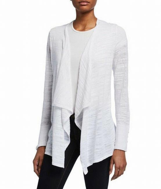 Item - XL Women White Size Button Sleeve Cardigan Sweater/Pullover