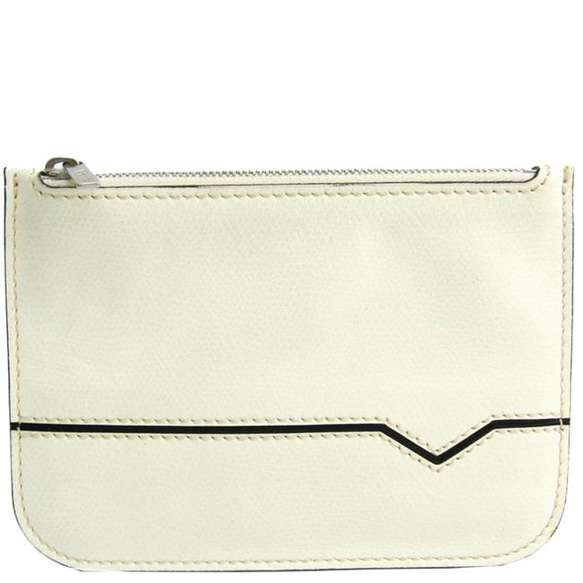 Item - White Leather Pouch Clutch