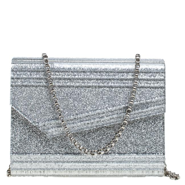 Item - Candy Silver Glitter Acrylic Chain Clutch