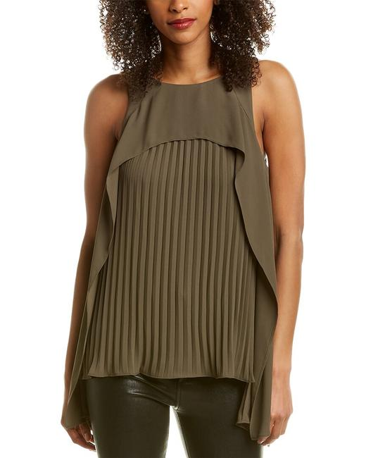 Item - Heritage Pleated Draped Top Sge011595t Blouse