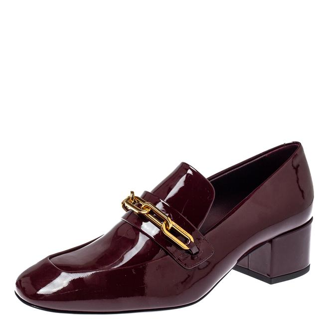 Item - Burgundy Patent Leather Chain Link Size 36.5 Loafers