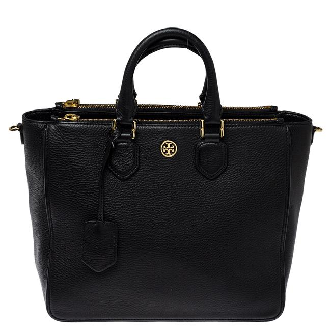 Item - Robinson Black Leather Double Zip Tote