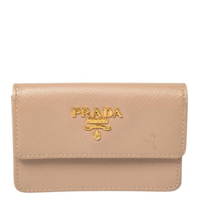 Item - Lux Beige Saffiano Leather Wallet