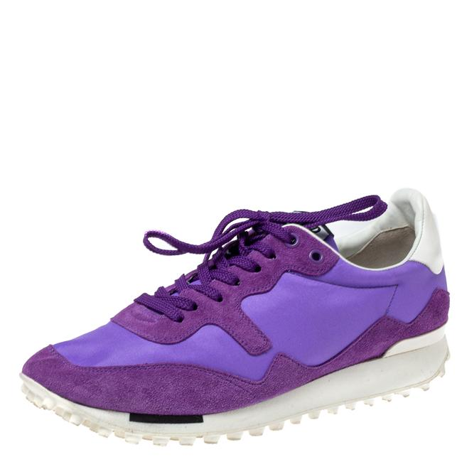Item - Purple Suede and Satin Starland Low Top Sneakers Size 40 Athletic