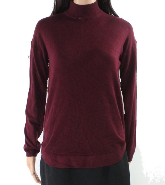Item - Women's Red Size Small Mock-neck Zipped Sweater/Pullover