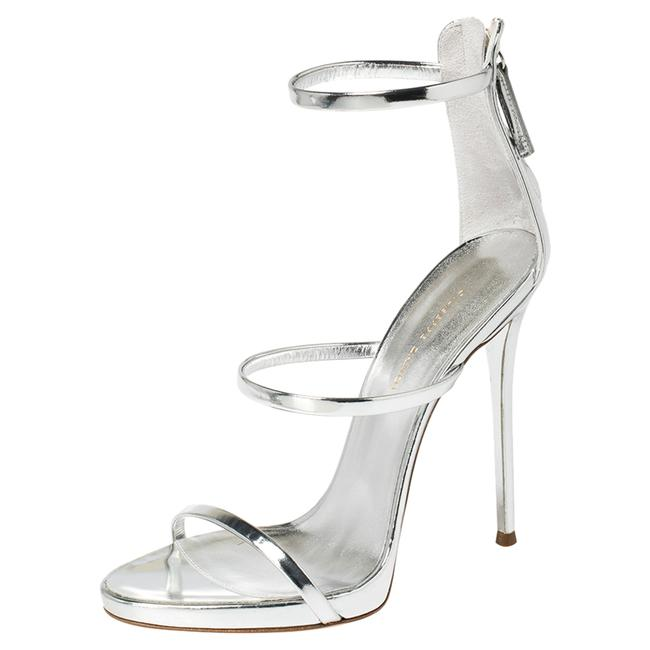 Item - Silver Patent Leather Harmony Size 39 Sandals