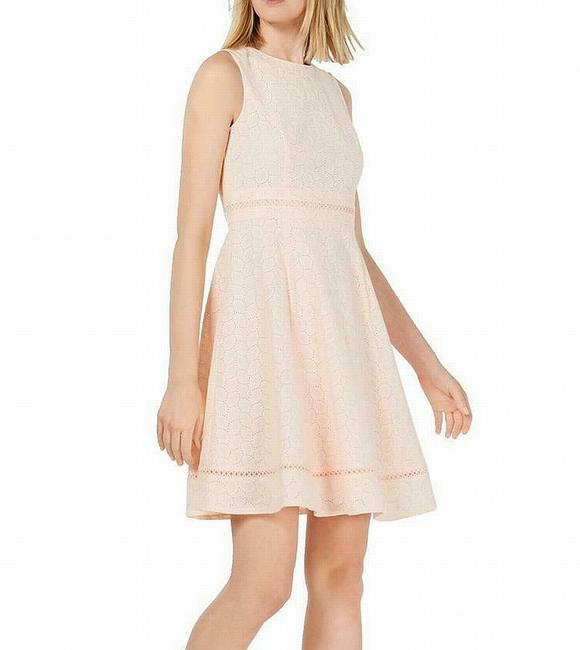 Item - Women's Pink Size 6 A-line Eyelet Fit & Flare Cocktail Dress