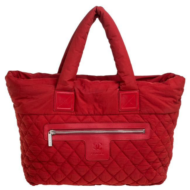 Item - Cocoon Red Nylon Coco Tote