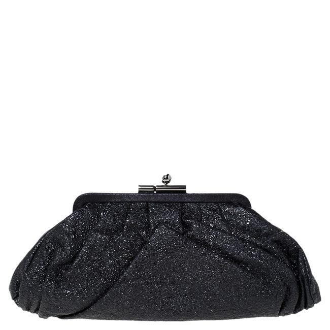 Item - Crinkled Leather Monte Carlo Clutch
