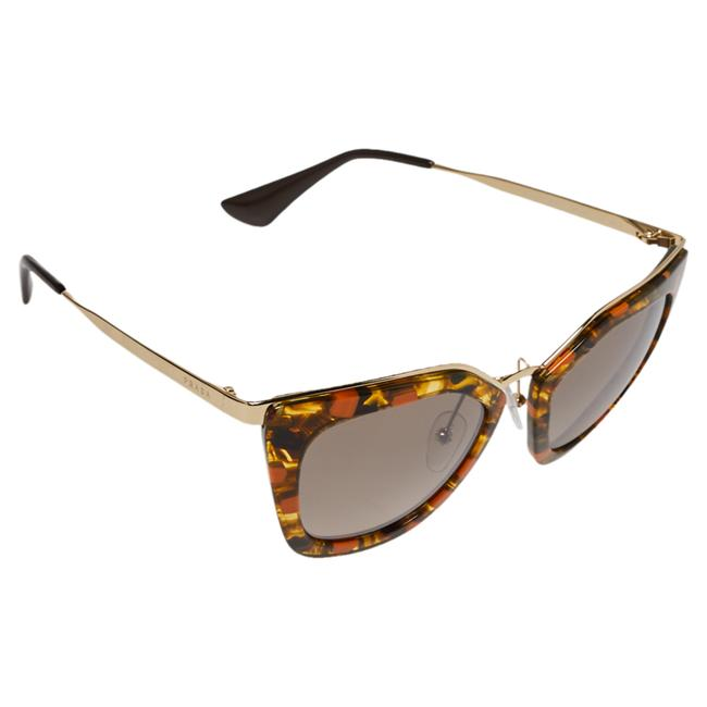 Item - Orange with Gold Havana/ Grey Gradient Spr53s Cat Eye Sunglasses