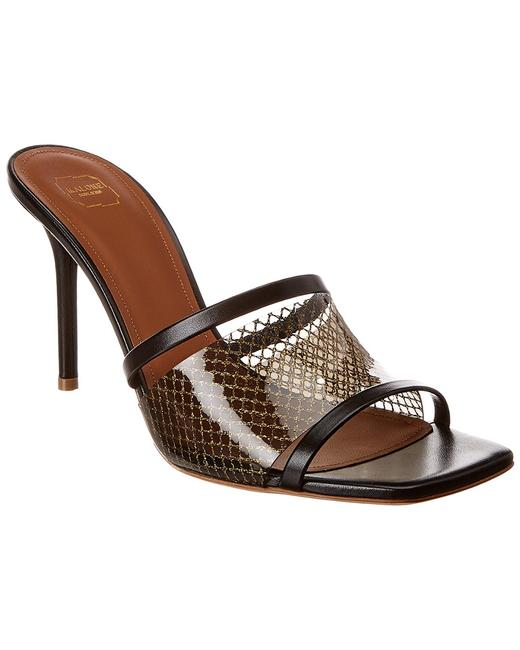 Malone Souliers Laney 85 Leather & Pvc Sandals 13135850150006 Image 1