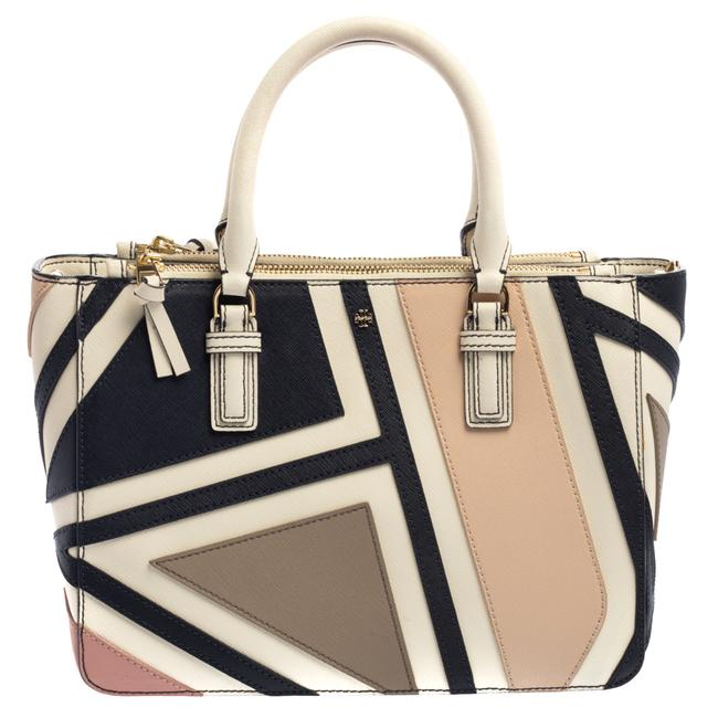 Item - Robinson Multicolor Fret Patchwork Leather Tote