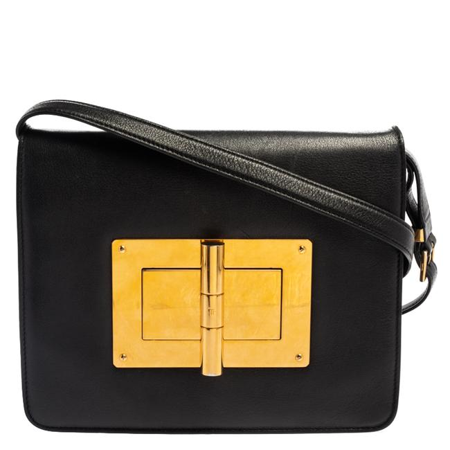 Item - Black Leather Large Natalia Shoulder Bag