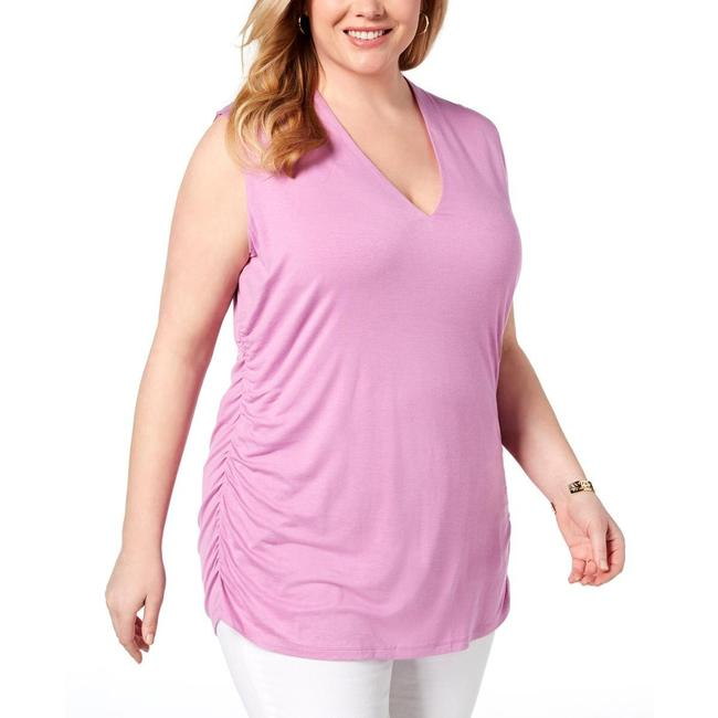 Item - Plus Size Ruched V-neck Tank Top/Cami
