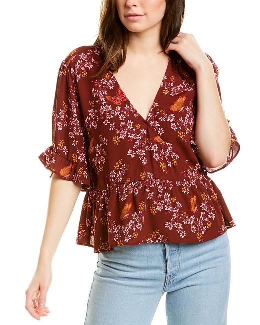 Madewell Tie-sleeve Wrap Top L2979 Blouse 14115177020000 Image 1