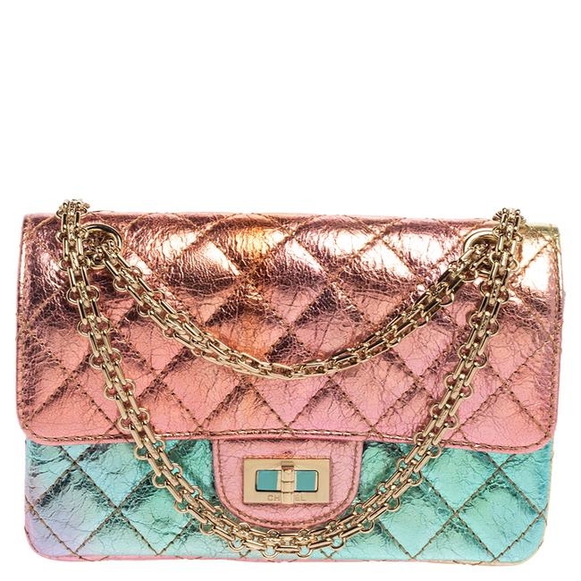 Item - Classic Flap 2.55 Reissue Rainbow Crinkled Leather Reissue Classic 224 Shoulder Bag