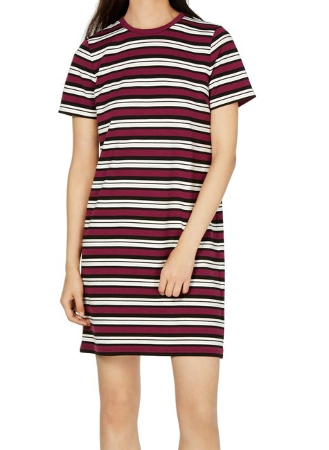 Item - Women's T-shirt Purple Size P Petite Striped Cocktail Dress