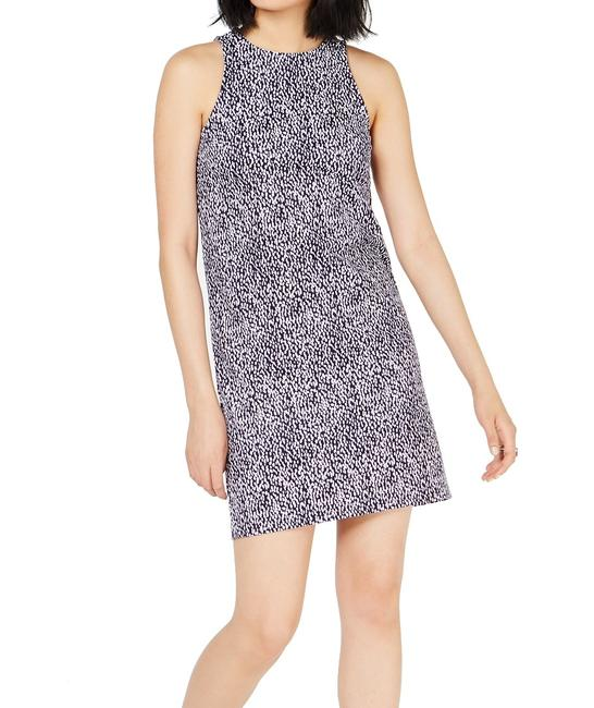 Item - Women's Purple Size P Petite Sheath Ikat Crew Neck Cocktail Dress