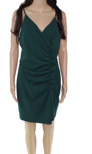 Item - Forest Green Size 7 Junior Sheath Ruched Front Formal Dress