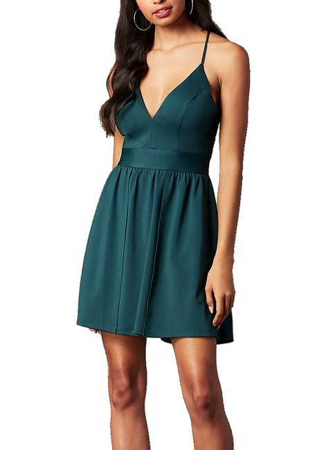 Item - Junior's Green Size 9 A-line Fit & Flare Formal Dress