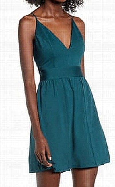 Item - Junior's Forest Green Size 9 A-line Fit & Flare Formal Dress