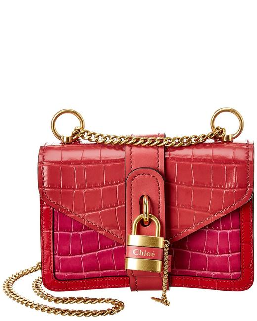 Chloé Chain Mini Croc-embossed Leather Chc20ss207 C36 6q5 Cross Body Bag Chloé Chain Mini Croc-embossed Leather Chc20ss207 C36 6q5 Cross Body Bag Image 1