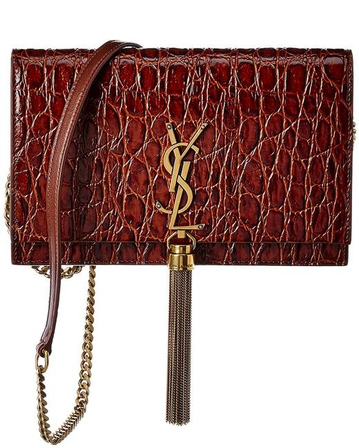 Item - Wallet on Chain Monogram Kate Small Tassel Croc-embossed Leather 452159 1zq1w 2177 Cross Body Bag