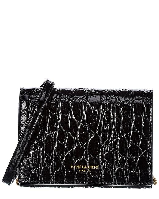 Item - Wallet on Chain Croc-embossed Leather 635219 1zq1w Shoulder Bag