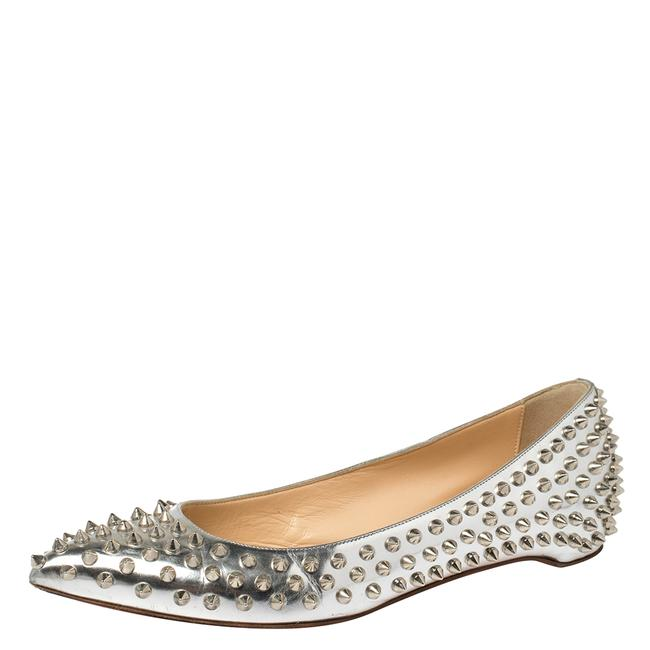 Item - Silver Metallic Leather Pigalle Size 39.5 Flats