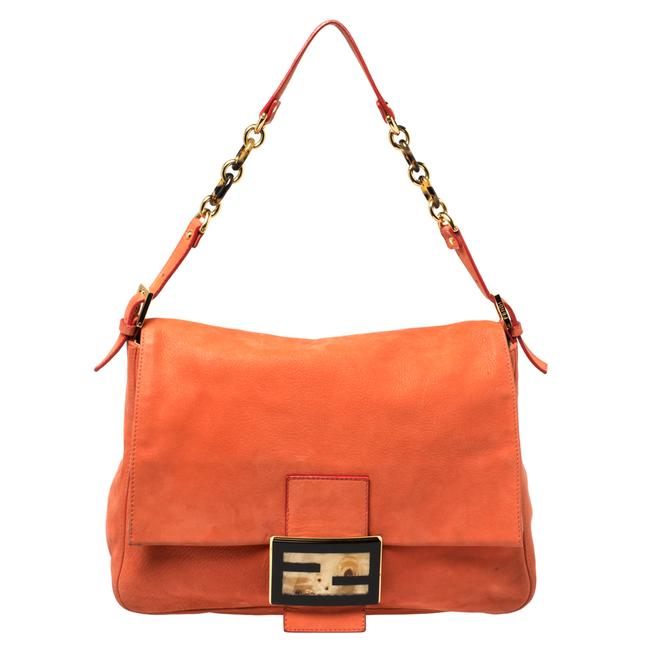 Item - Orange Leather Mamma Forever Shoulder Bag