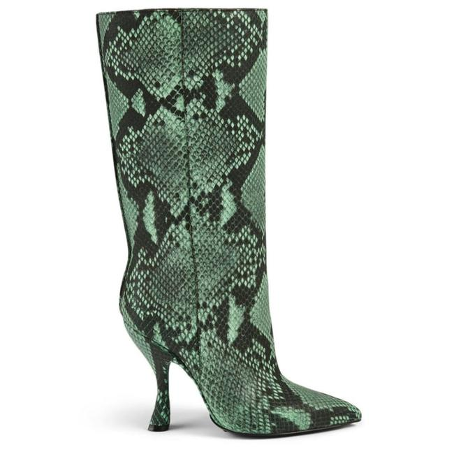 Dries van Noten Snakeskin-embossed Leather Knee-high Boots/Booties Dries van Noten Snakeskin-embossed Leather Knee-high Boots/Booties Image 1