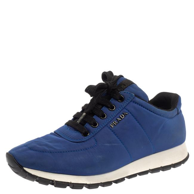 Item - Blue Nylon Low Top Sneakers Size 37.5 Athletic