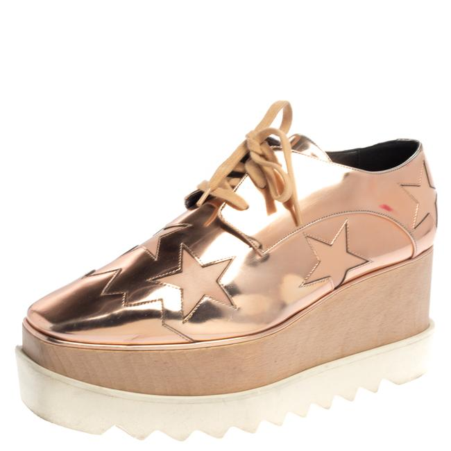 Item - Rose Gold Faux Patent Leather Elyse Star Platform Sneakers Size 38.5 Athletic
